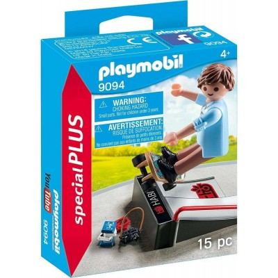 PLAYMOBIL 9094 SKATEBOARDER ΜΕ ΡΑΜΠΑ