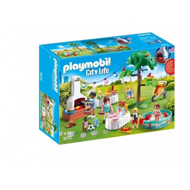 PLAYMOBIL 9272 ΠΑΡΤΥ ΣΤΟΝ ΚΗΠΟ ΜΕ BARBECUE