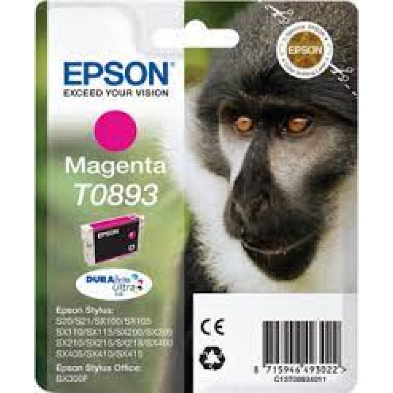 INK EPSON T0893 C13T08934020 MAGENTA WITH PIGMENT INK - 35ml