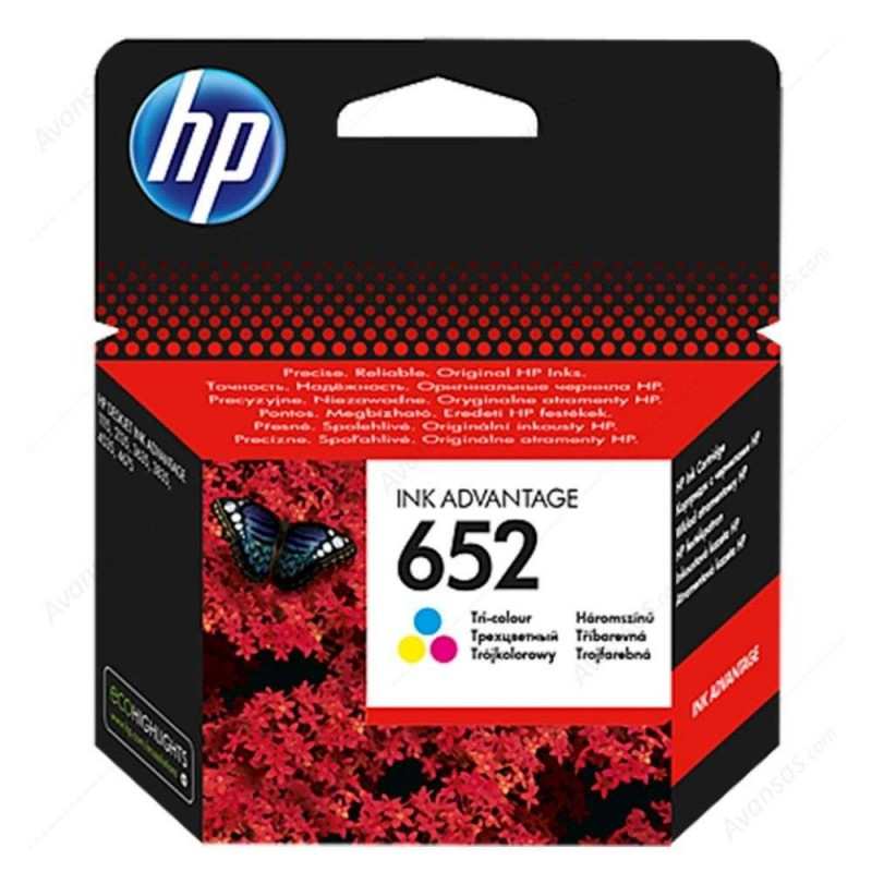 INK HP No 652 TRI-COLOR 200pgs
